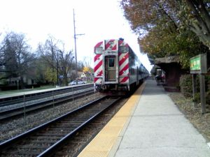 train leaving station